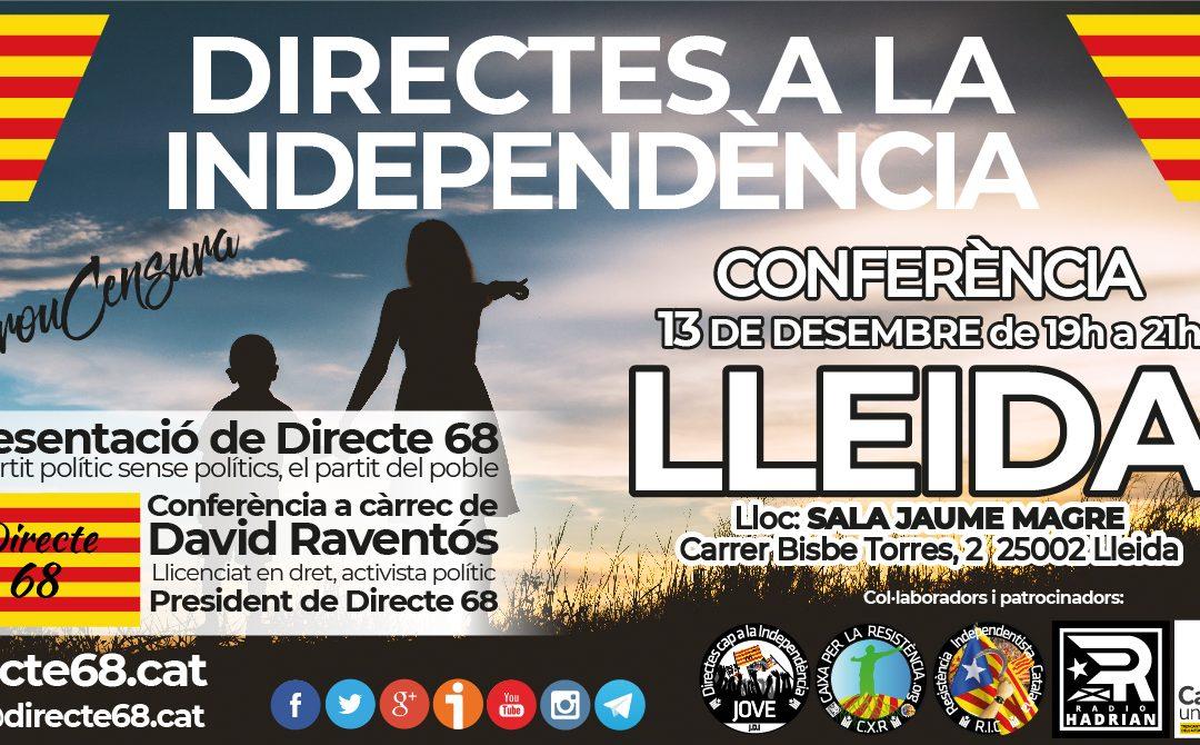 Conferència DIRECTES A LA INDEPENDÈNCIA a LLEIDA – SALA JAUME MAGRE