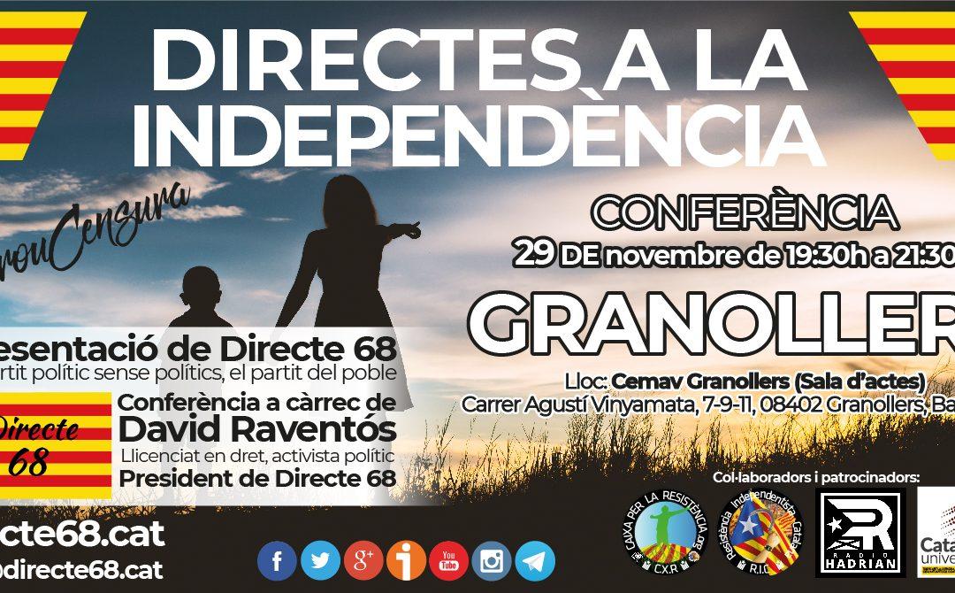 Conferència DIRECTES A LA INDEPENDÈNCIA a Granollers – CEMAV